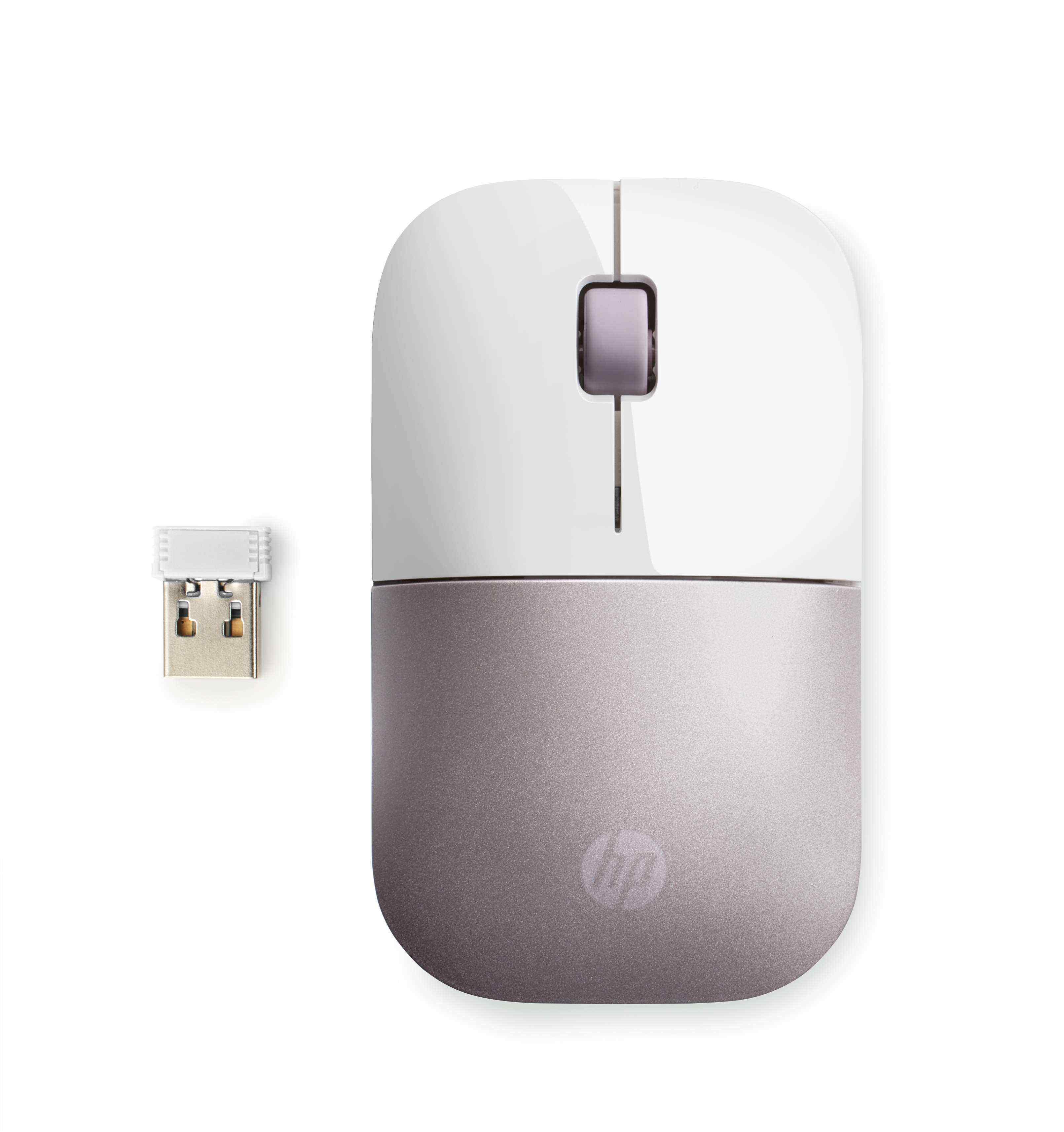 HP Z3700 Kablosuz İnce & Hafif Mouse - Beyaz & Roze