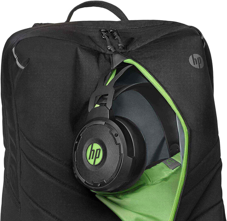 HP Pavilion 500 Gaming 17.3 inç Bilgisayar Sırt Çantası - Siyah & Neon Yeşili